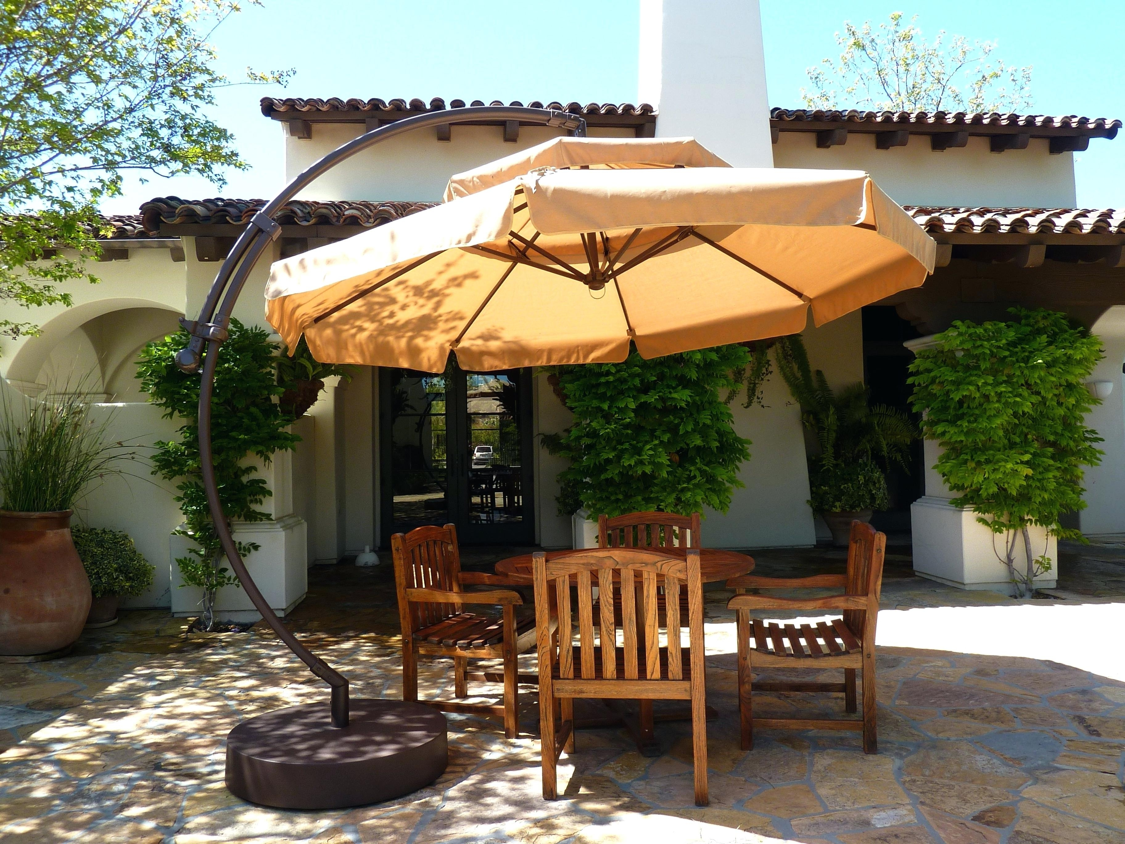 Great Large Patio Umbrellas With Additional Patio Ideas Large With Well Liked Sams Club Patio Umbrellas (View 4 of 20)