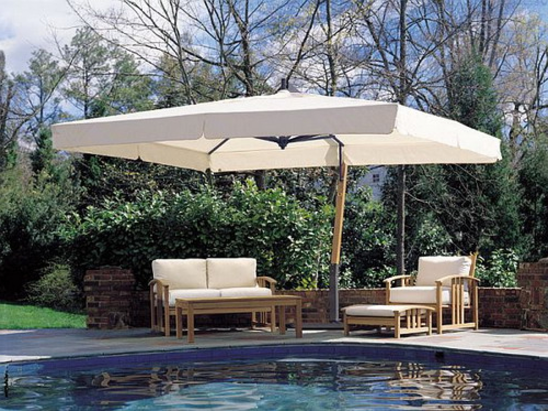 Great Rectangle Patio Umbrella Designs Ideas – Printableboutique In Famous Rectangle Patio Umbrellas (View 16 of 20)
