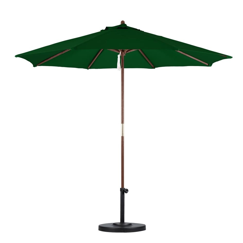 Green Patio Umbrellas For Preferred California Umbrella 9 Ft (View 6 of 20)