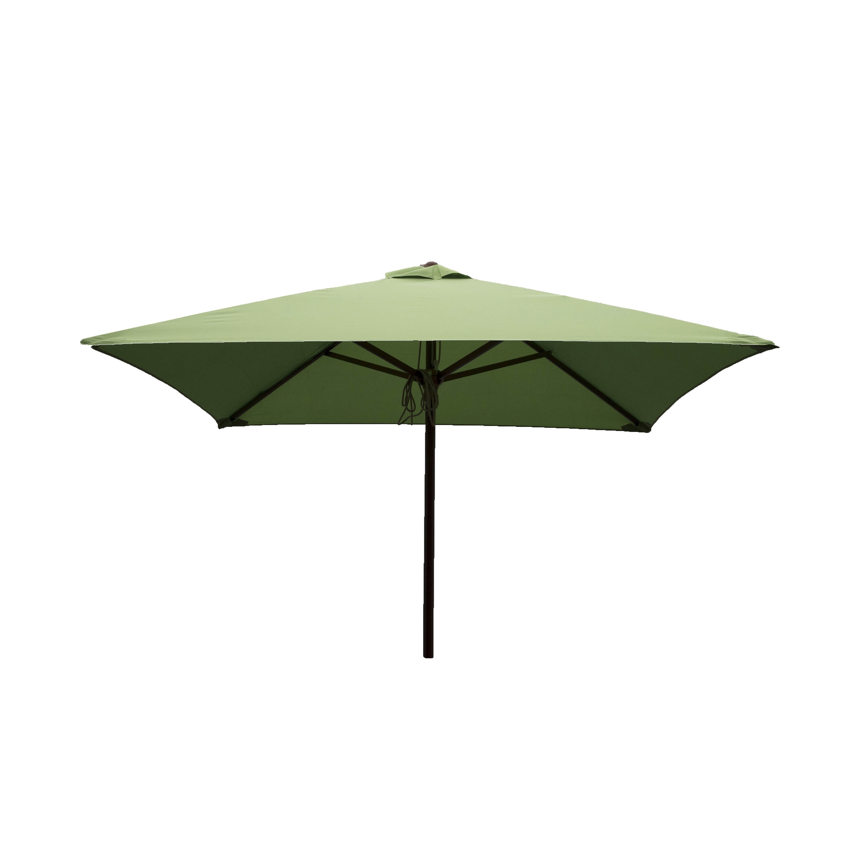 Green Patio Umbrellas Throughout Most Popular Shop Destinationgear 6.5 Ft Square Patio Umbrellas – Free Shipping (Gallery 16 of 20)