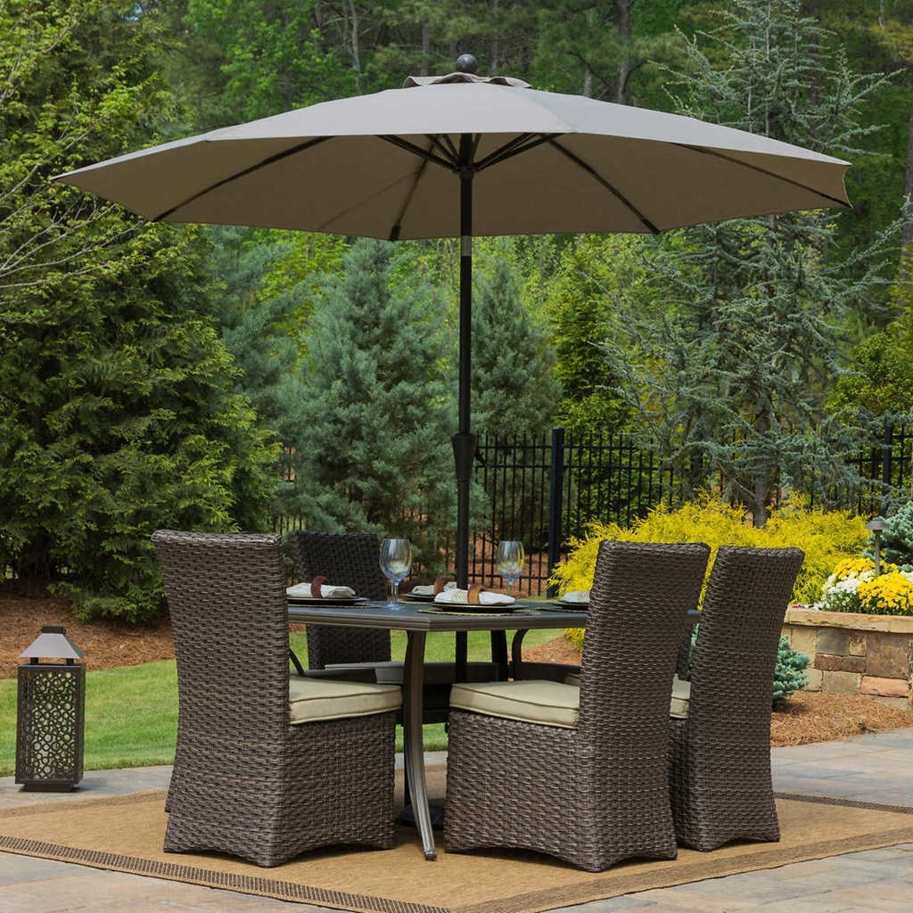 Grey Patio Umbrellas Throughout Well Known Patio: Awesome Umbrella Patio Table Picnic Tables With Umbrella (View 12 of 20)