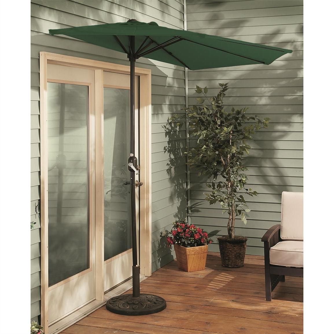 Half Patio Umbrellas Regarding Preferred Castlecreek 8' Half Round Patio Umbrella – 235556, Patio Umbrellas (View 9 of 20)