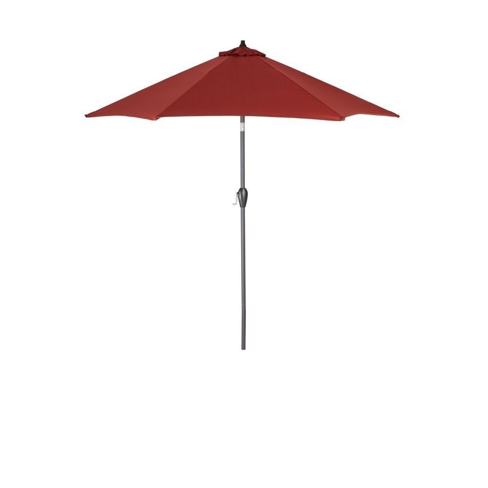 Hampton Bay Patio Umbrellas Within 2019 Hampton Bay 9 Ft (View 3 of 20)