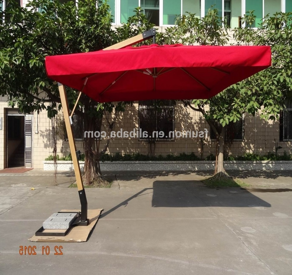Heavy Duty Patio Umbrellas Throughout Widely Used Foshan Heavy Duty Hanging Cantilever Patio Umbrella With Granite (Gallery 3 of 20)