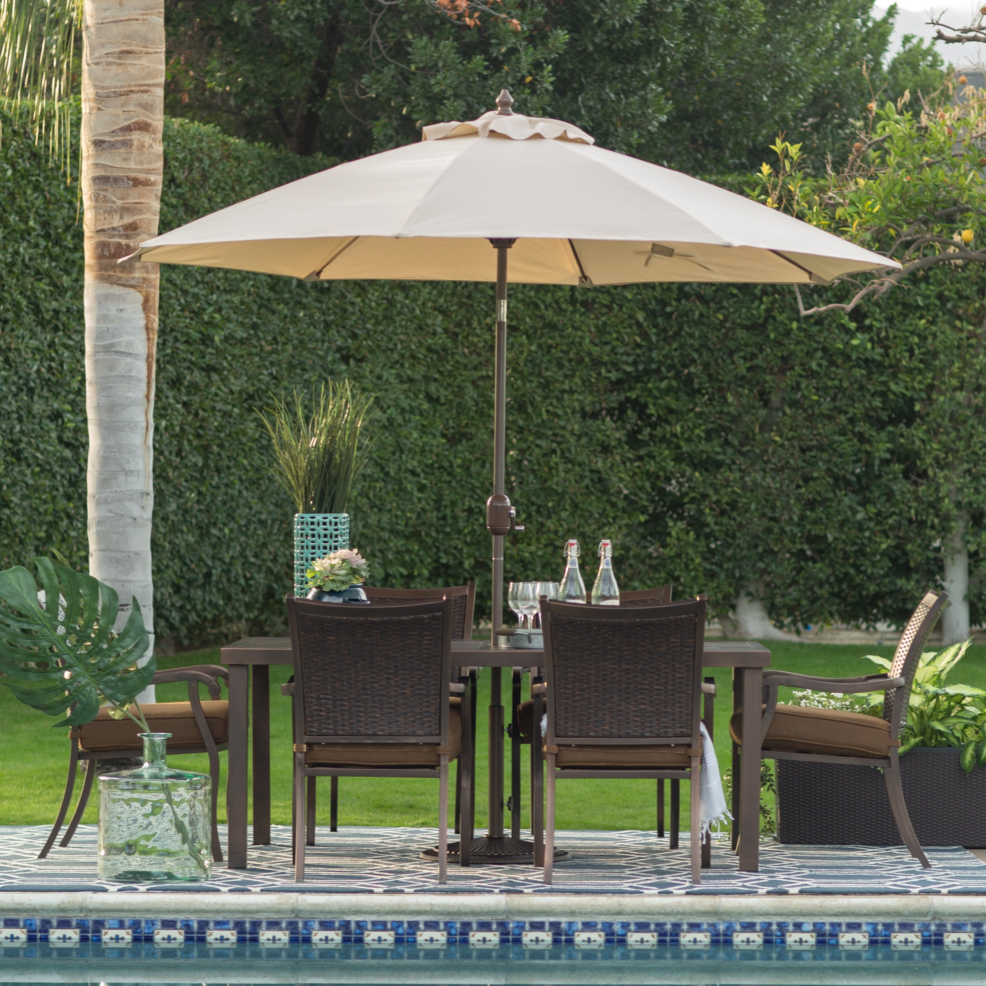 Heavy Duty Patio Umbrellas Within Current Patio Ideas Heavy Duty Patio Umbrella With Cream Patio Umbrella And (View 1 of 20)