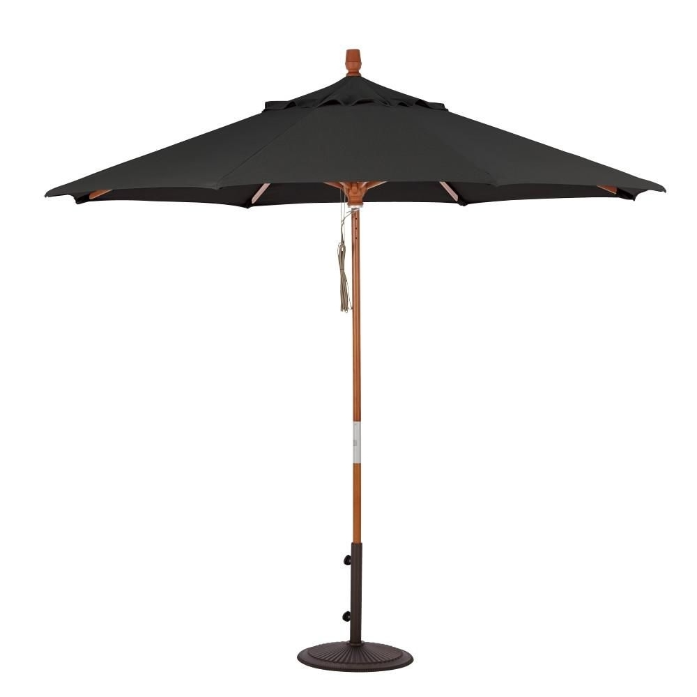 Home Decorators Collection 6 Ft. Quad Pulley Lift Patio Umbrella In Within Most Up To Date Sunbrella Black Patio Umbrellas (Gallery 4 of 20)