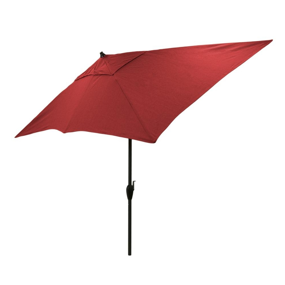Home Depot Patio Umbrellas Throughout Best And Newest Hampton Bay 10 Ft. X 6 Ft (View 15 of 20)