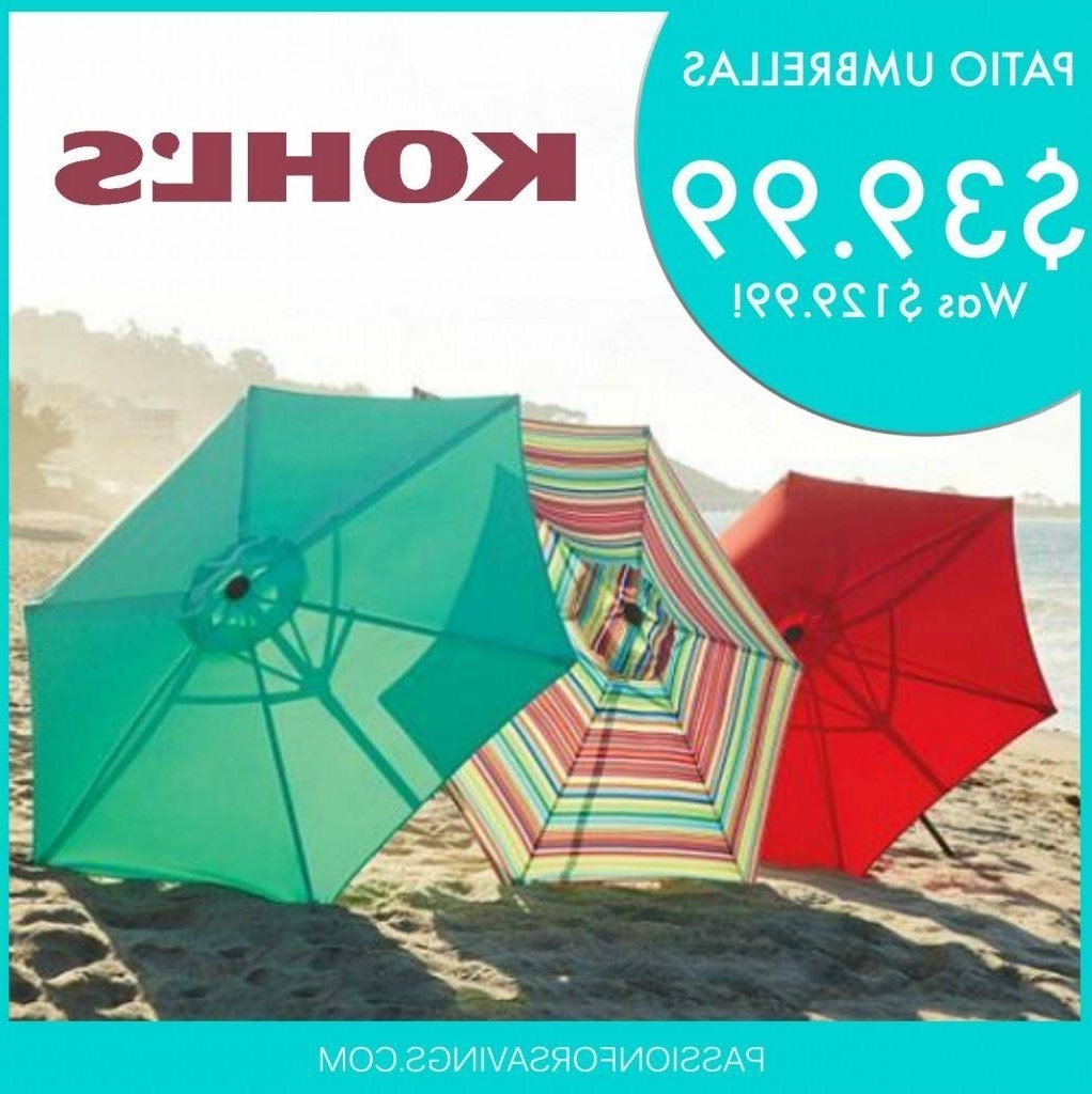Hot! Kohls Patio Umbrella's $39.99 (was $ (View 13 of 20)