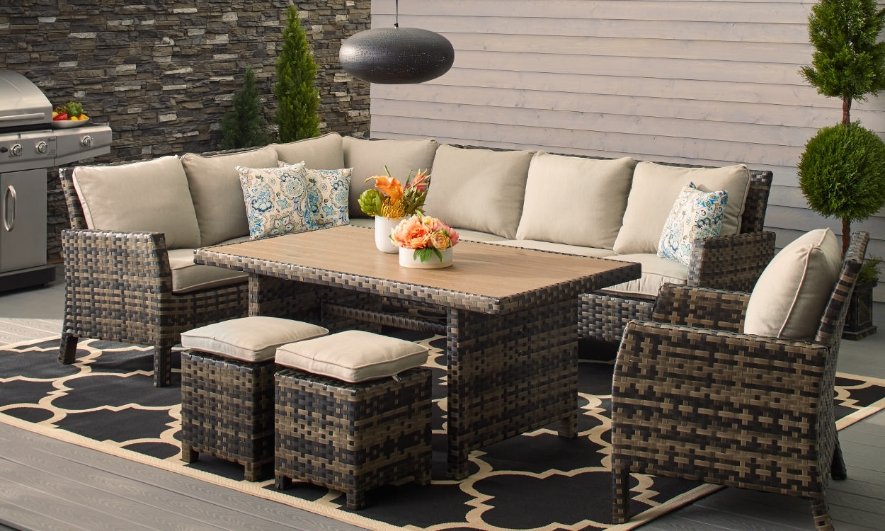 How To Choose Patio Furniture For Small Spaces – Overstock Regarding Newest Small Patio Umbrellas (Gallery 15 of 20)