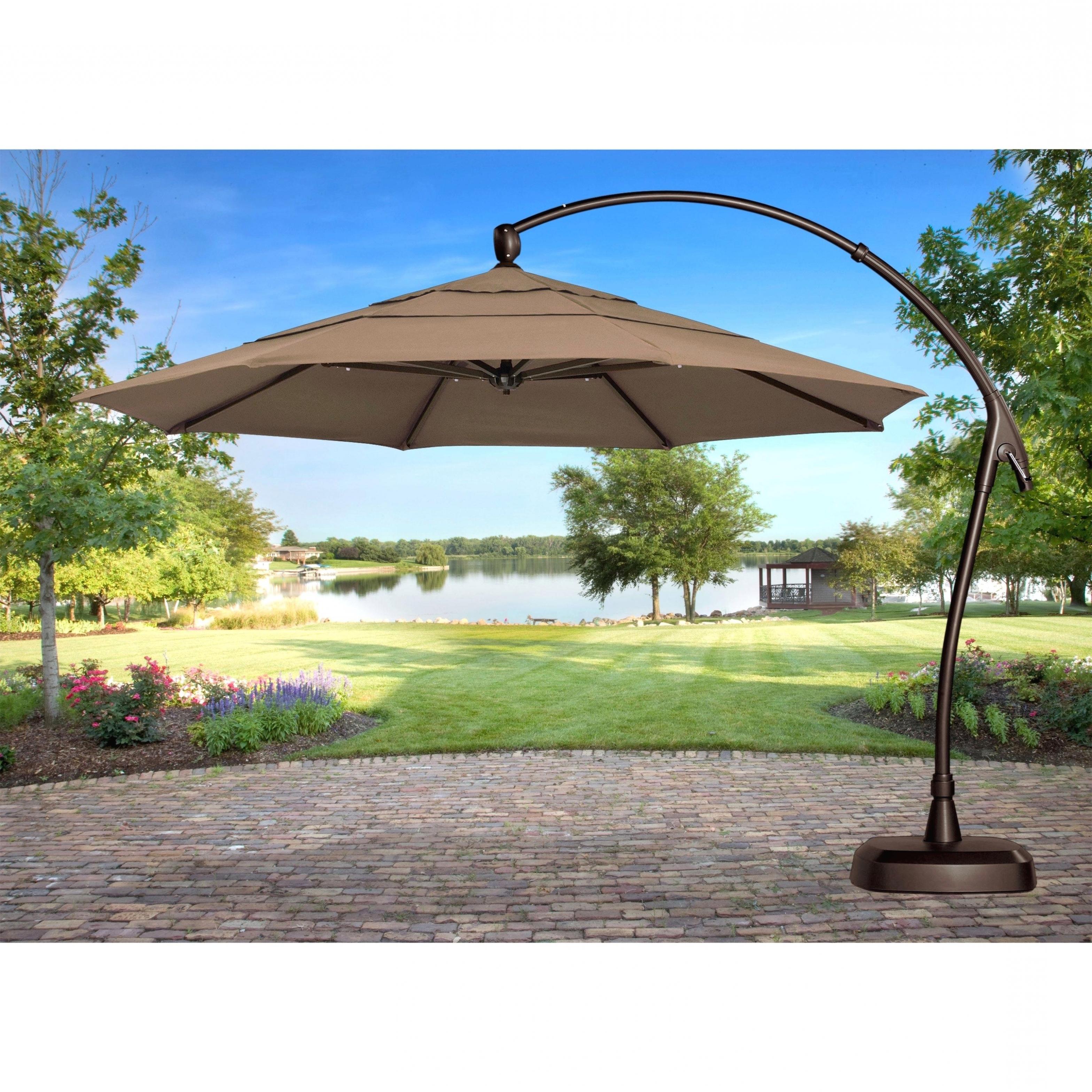 Interior Decor: Luxuriant Cantilever Patio Umbrella Teak Chairs With Favorite Sears Patio Umbrellas (View 5 of 20)