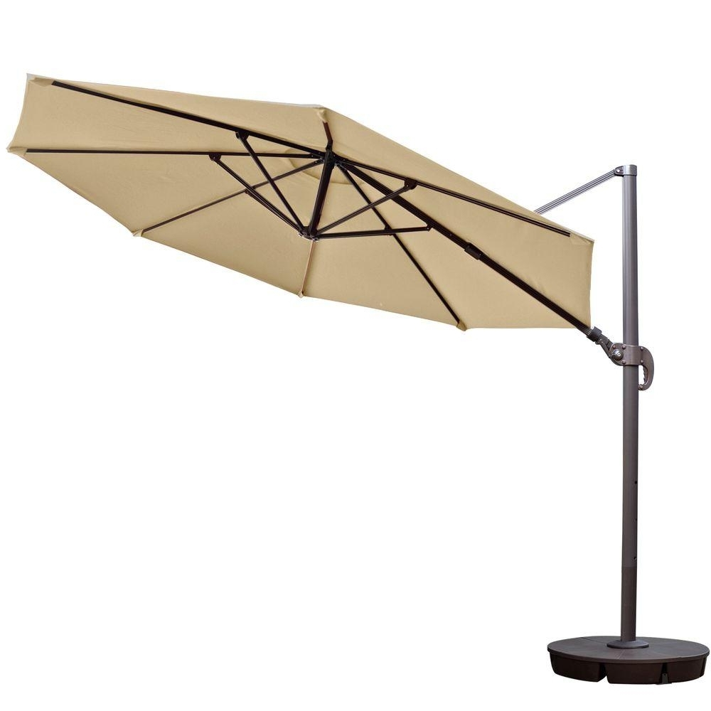 Island Umbrella Freeport 11 Ft. Octagon Cantilever Patio Umbrella In For Preferred 11 Foot Patio Umbrellas (Gallery 5 of 20)