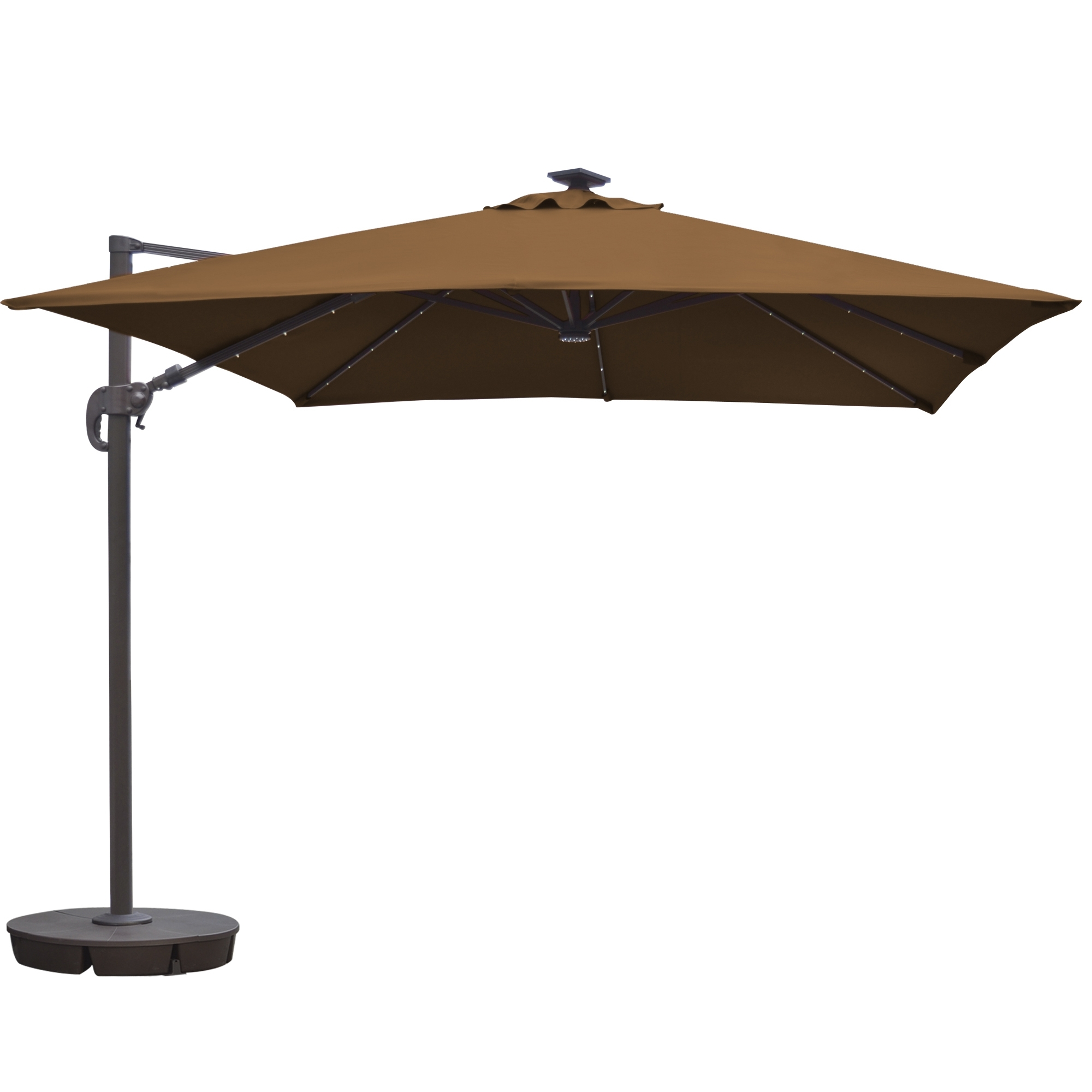 Island Umbrella Santorini Ii Fiesta 10 Ft Square Cantilever Solar Throughout 2018 Square Cantilever Patio Umbrellas (View 4 of 20)