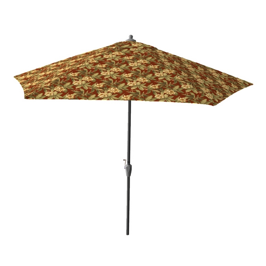 Jewel Patio Umbrellas Intended For Fashionable Shop 9' Ambrosia Jewel Patio Umbrella At Lowes (Gallery 1 of 20)