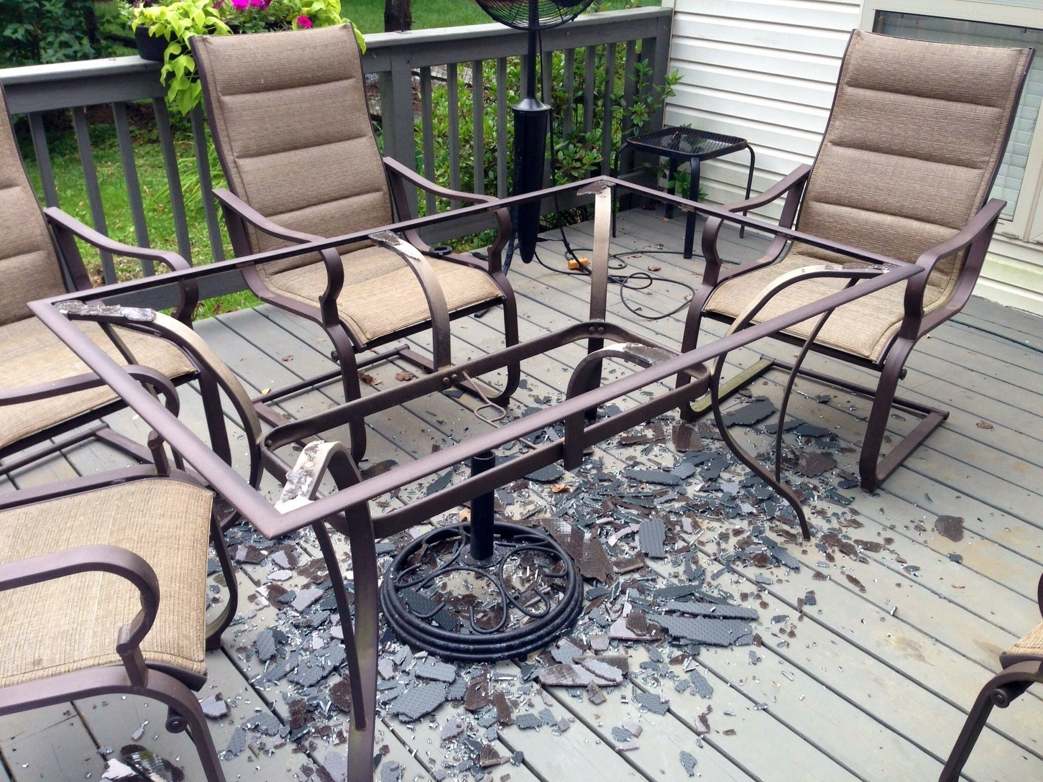 Jewel Patio Umbrellas Regarding Best And Newest Innovative Patio Table Glass Replacement Glass Table Top Patio (View 3 of 20)