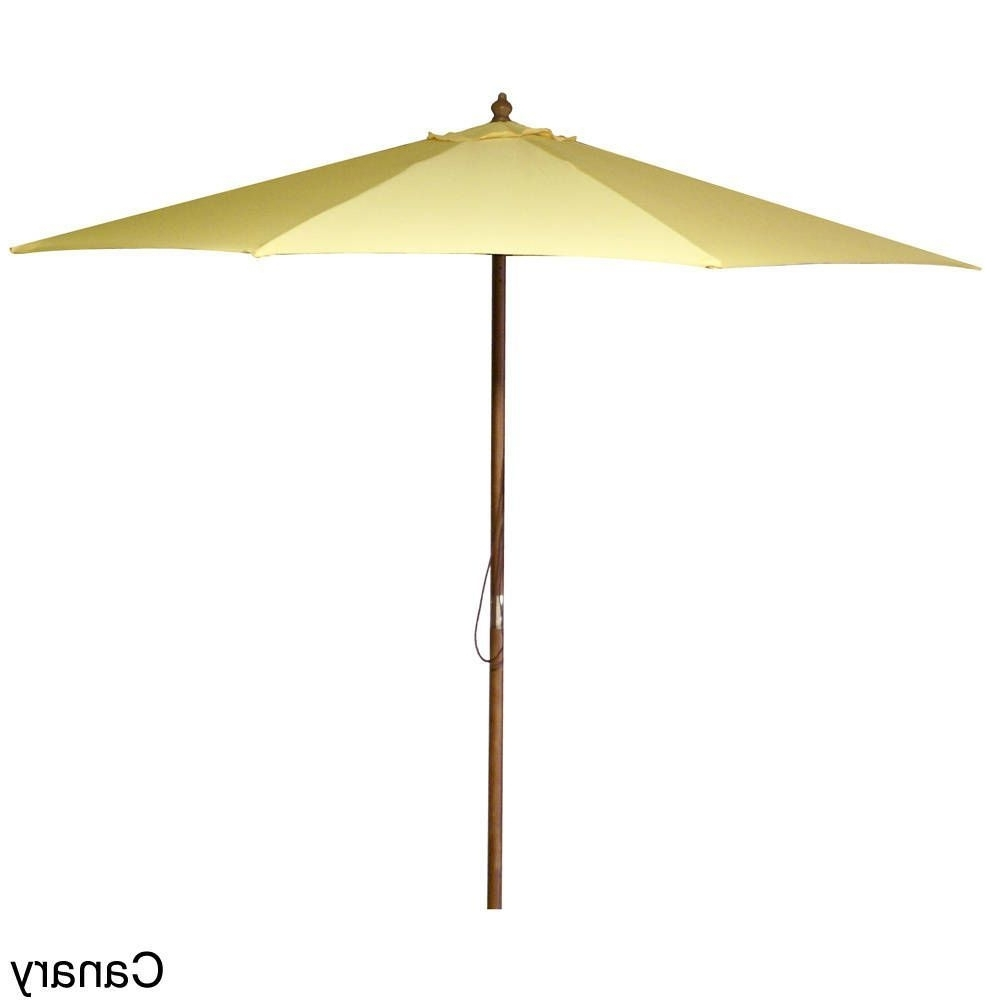 Jordan Manufacturing 9 Foot Wooden Market Umbrella (black With Recent Jordan Patio Umbrellas (Gallery 9 of 20)