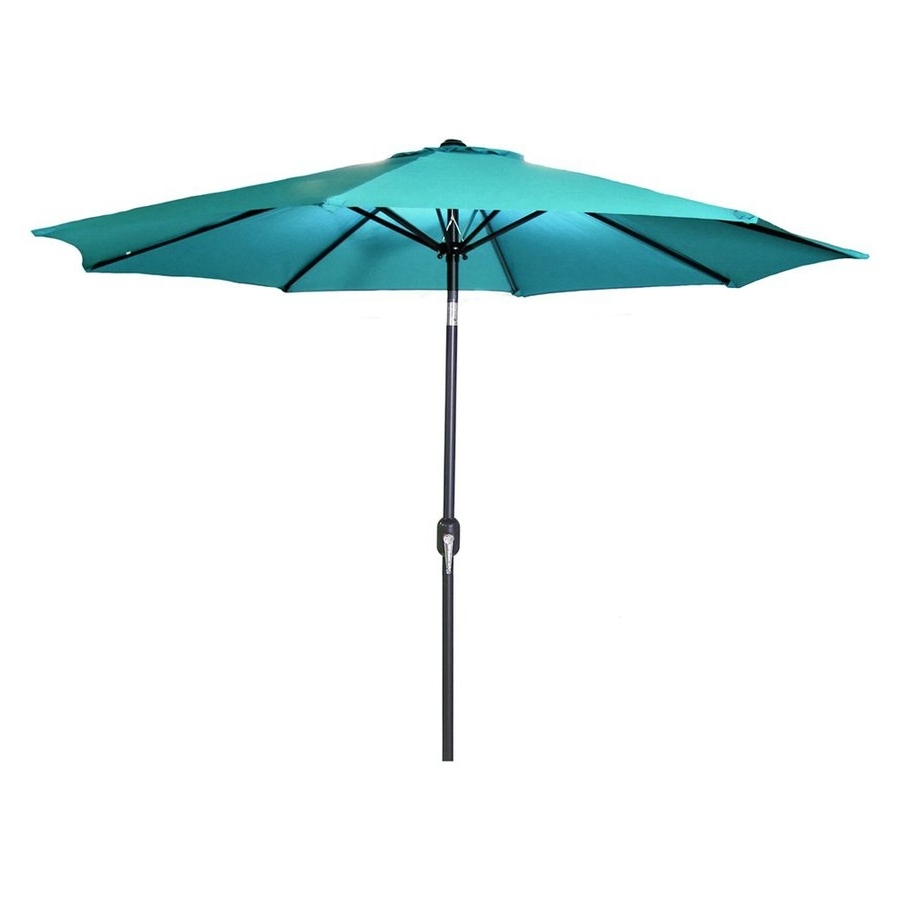 Jordan Patio Umbrellas Pertaining To Most Recent Shop Jordan Manufacturing Aruba Market 9 Ft Patio Umbrella At Lowes (Gallery 1 of 20)