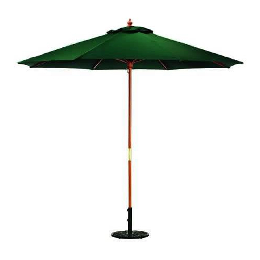 Jordan Patio Umbrellas With Regard To Newest Shop Jordan Manufacturing Green Market 9 Ft Patio Umbrella At Lowes (Gallery 10 of 20)