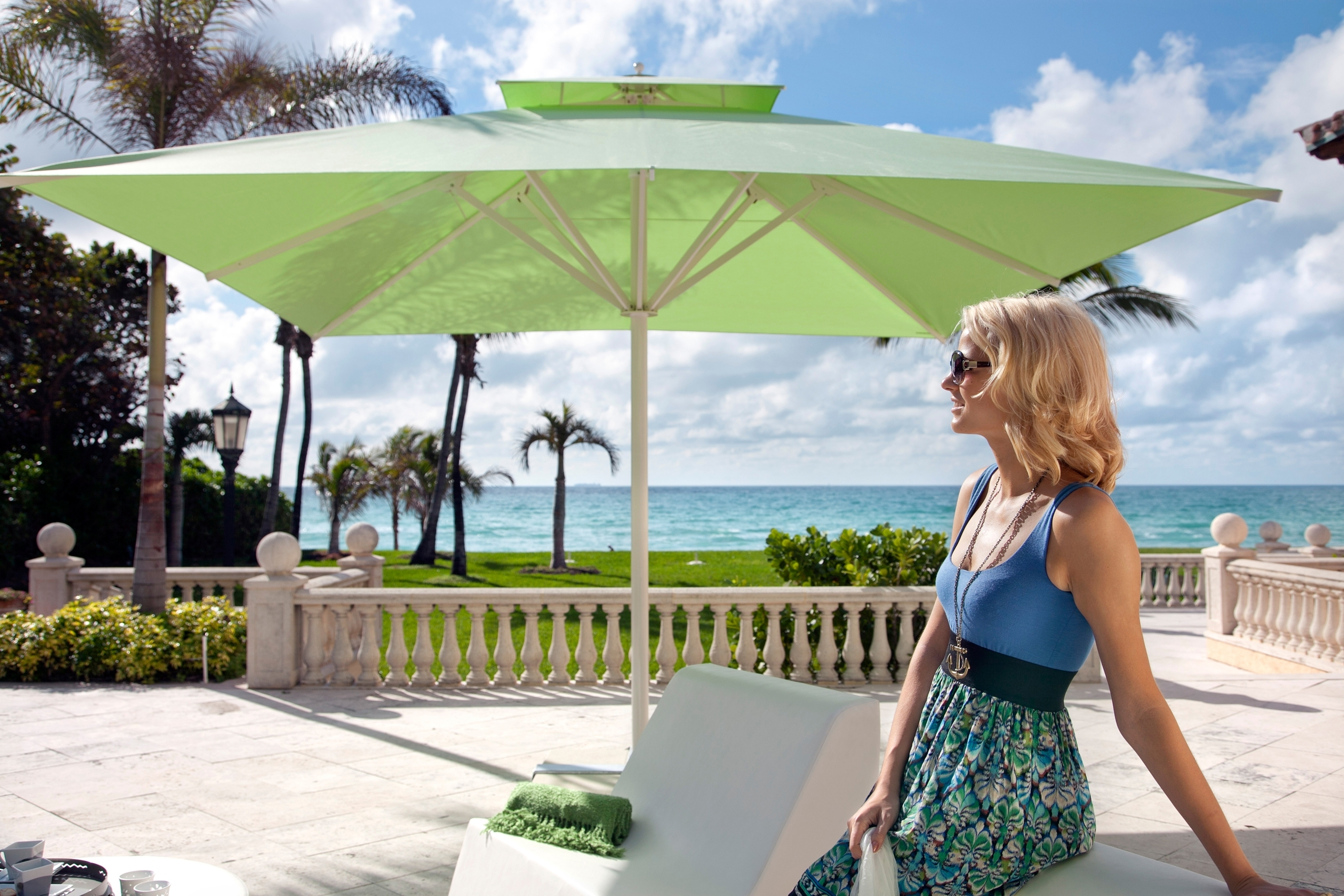 Jumbo Patio Umbrellas Regarding Recent Square Dimension For Giant Patio Umbrellas (Gallery 18 of 20)
