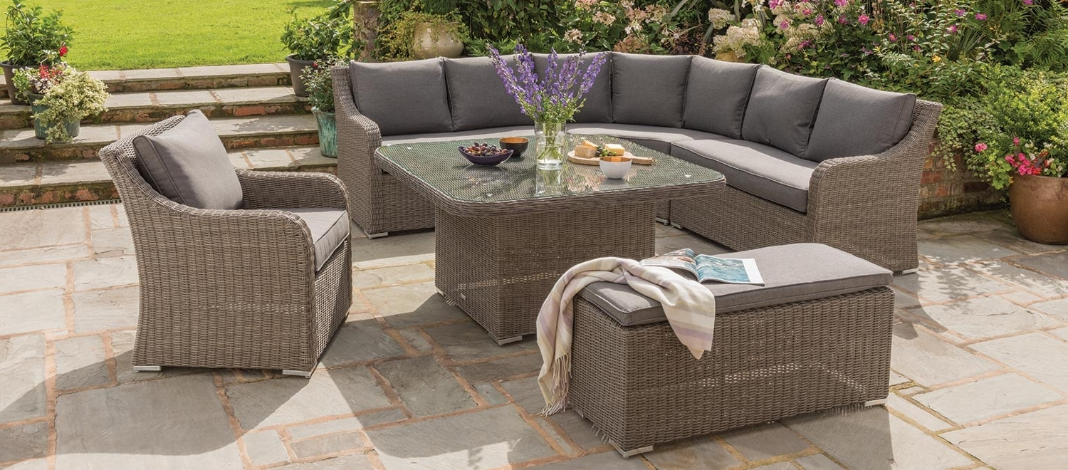 Kettler Patio Umbrellas With Well Liked Madrid Corner Set (View 10 of 20)
