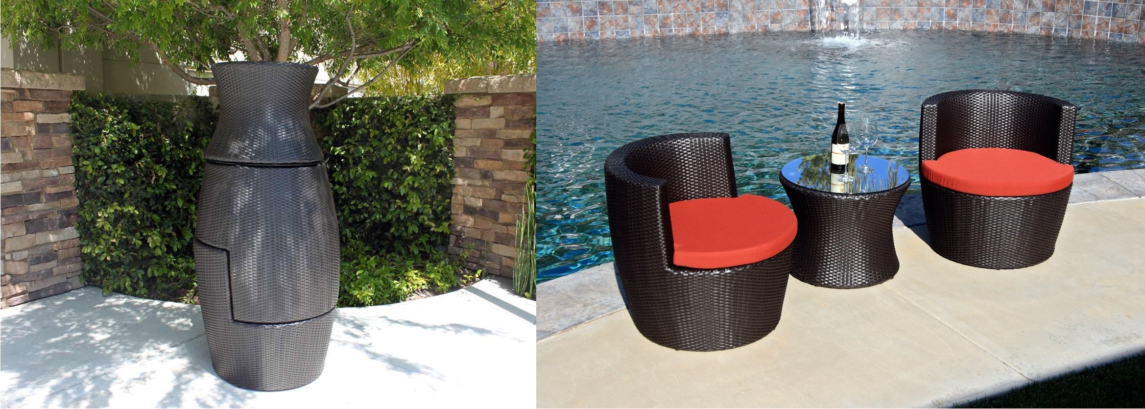 Krevco Patio Umbrellas Pertaining To Best And Newest How To Properly Store Wicker Furniture In The Winter (View 9 of 20)