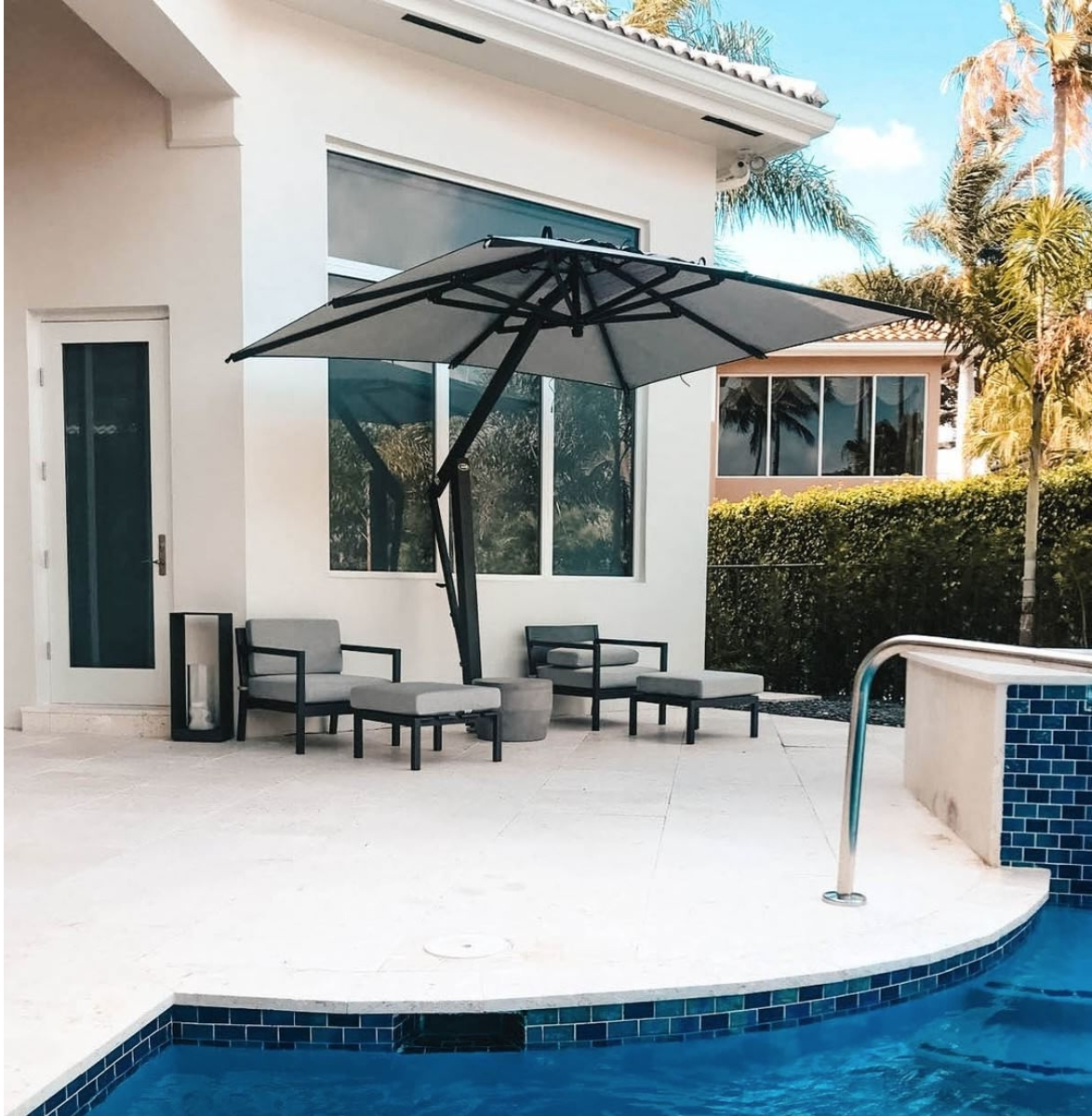Large Patio Umbrellas In Best And Newest The Complete Buyers Guide For Large Patio Umbrellas – Poggesi Usa (View 14 of 20)