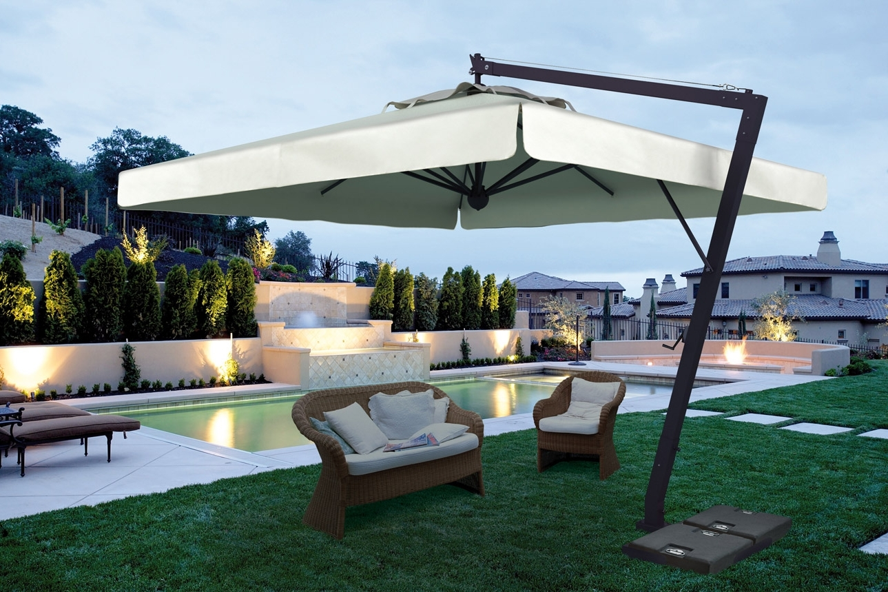 Large Patio Umbrellas In Most Current Patio Exrta Large Umbrella With Black Furniture Commercial Umbrellas (View 4 of 20)