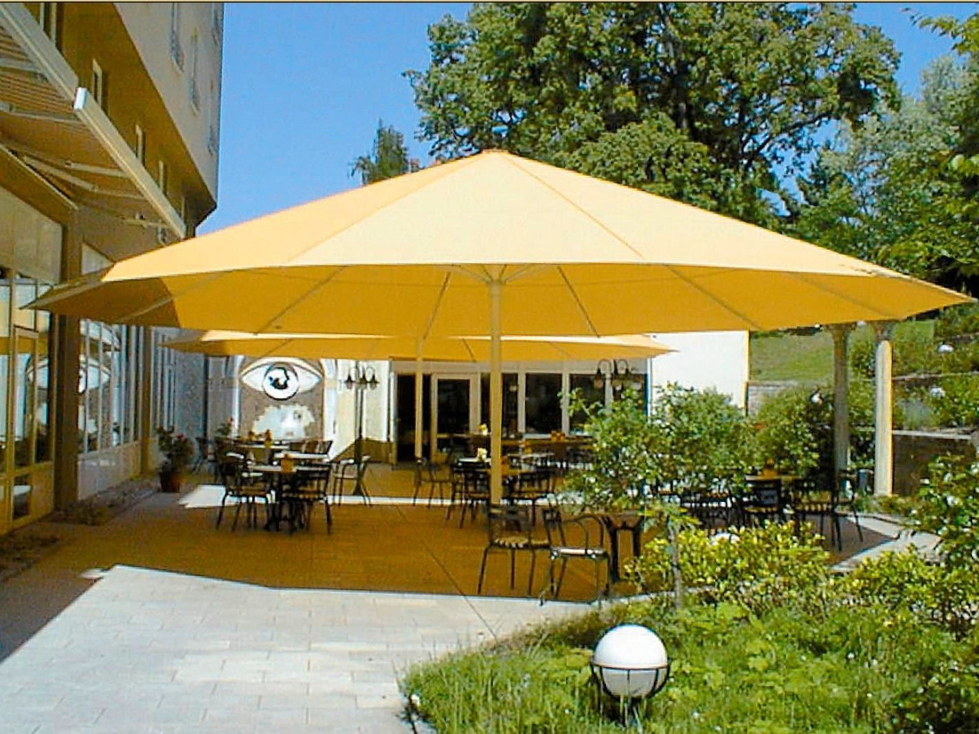 Latest 45 Large Patio Umbrella, Zeta Large Umbrellas Large Parasols Apex For Large Patio Umbrellas (View 12 of 20)
