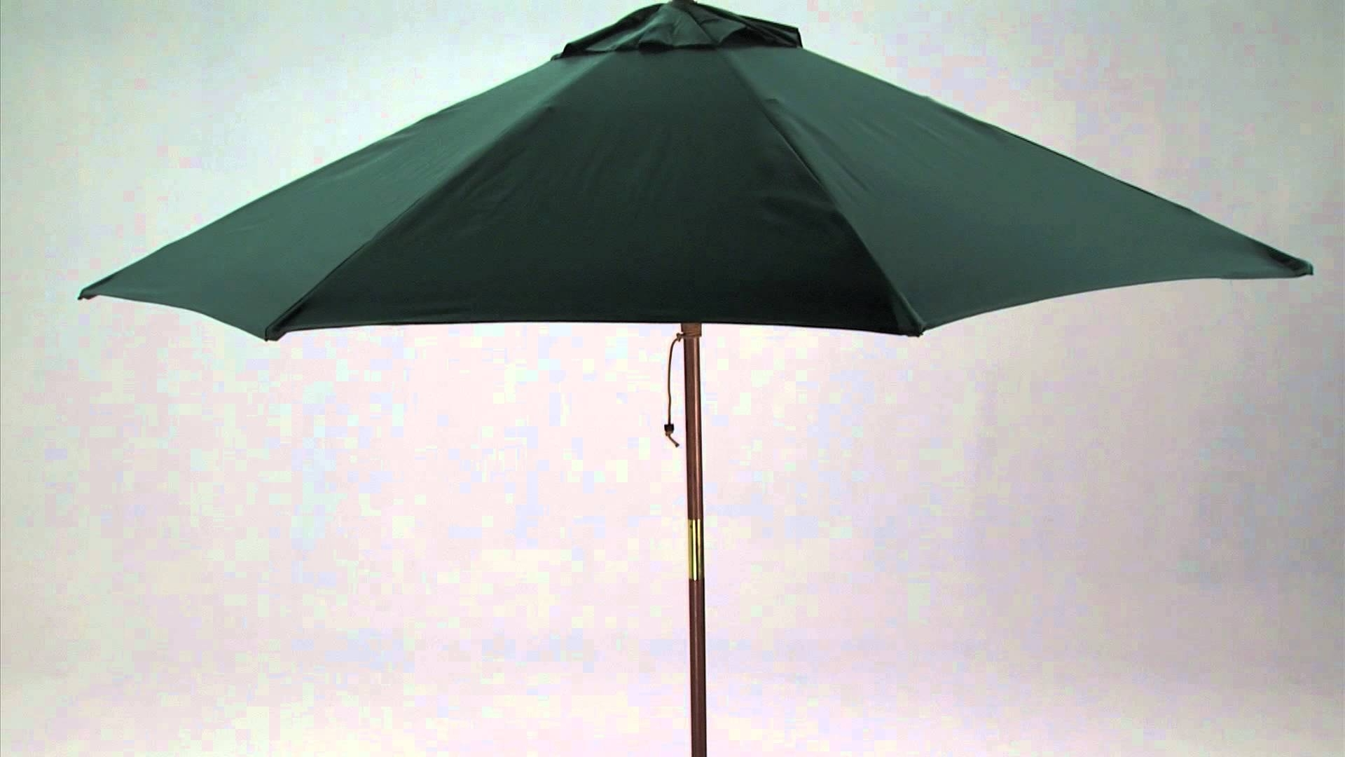 Latest 9 Foot Wooden Market Patio Umbrella – Youtube With Regard To Wooden Patio Umbrellas (View 8 of 20)