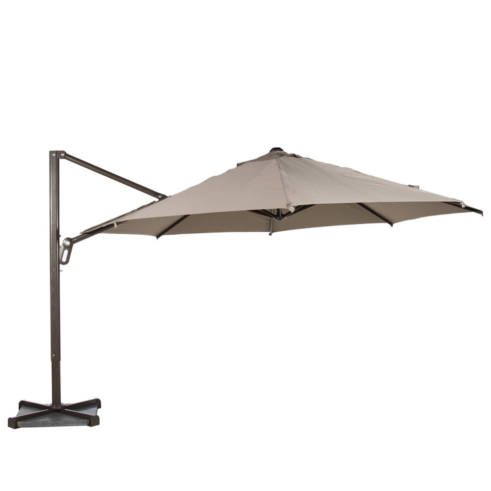 Latest Abba Patio 11 Ft Octagon Cantilever Vented Tilt & Crank Lift Patio In Vented Patio Umbrellas (View 19 of 20)