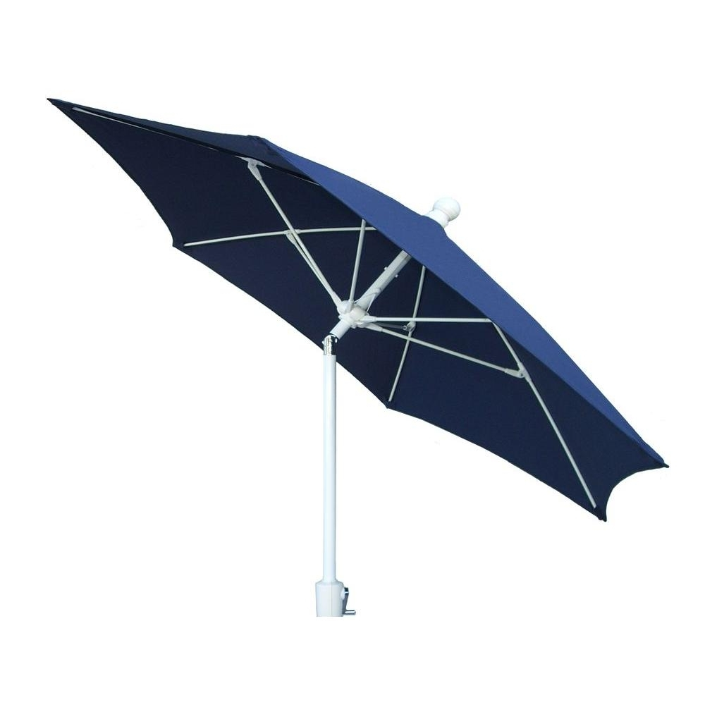 Latest Blue Patio Umbrellas Intended For Fiberbuilt Umbrellas 9 Ft. Patio Umbrella In Navy Blue 9Hcrw T Nb (Gallery 13 of 20)