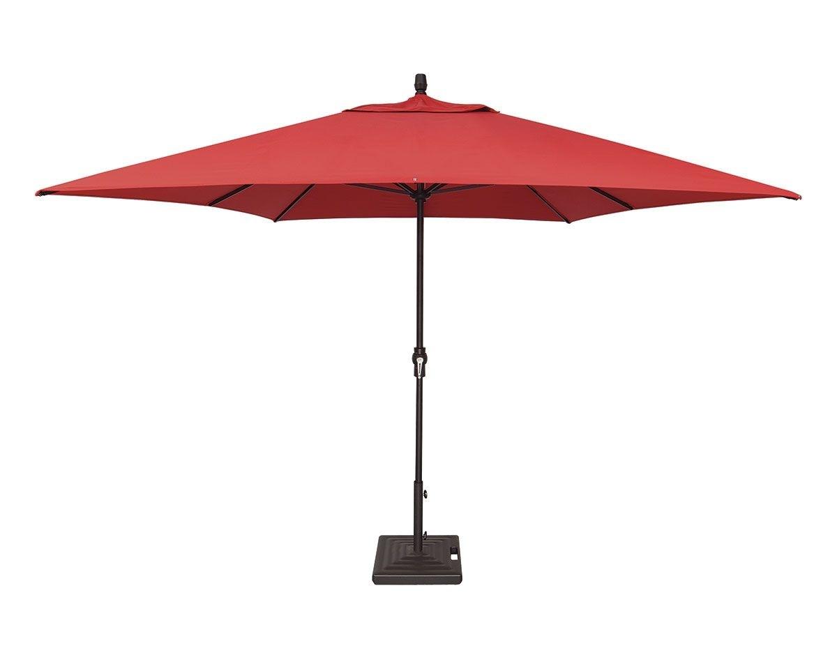 Latest Custom Sunbrella Patio Umbrellas With 8' X 11' Rectangular Crank Lift Umbrella (Um8811Rt Swv) (View 10 of 20)