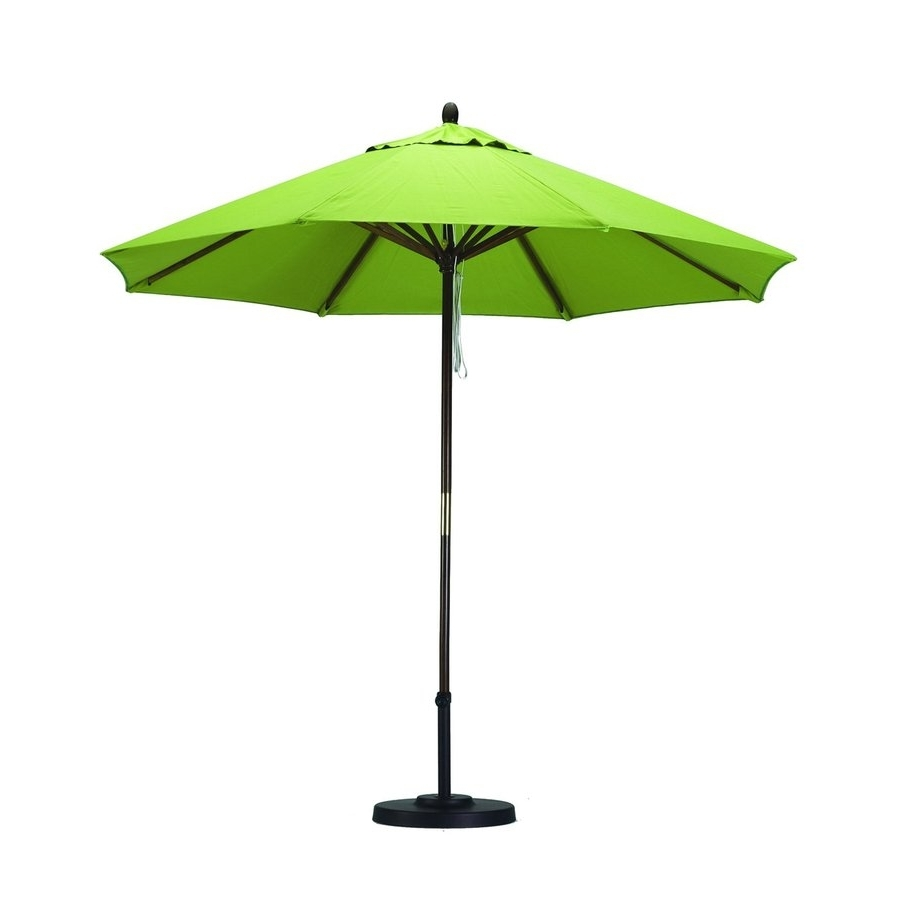 Latest Lowes Patio Umbrellas For Shop California Umbrella Sunline Lime Green Market 9 Ft Patio (View 5 of 20)