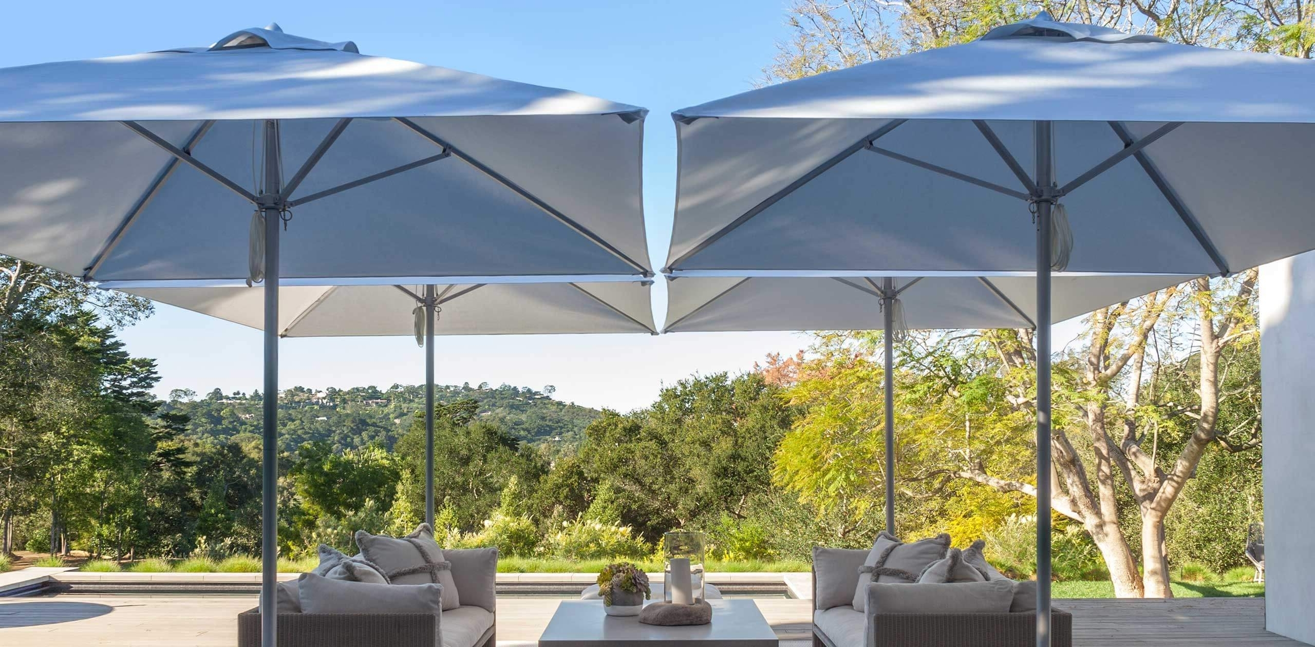 Latest Paseo – Designer Collections – Santa Barbara Designs Pertaining To Vinyl Patio Umbrellas With Fringe (View 6 of 20)