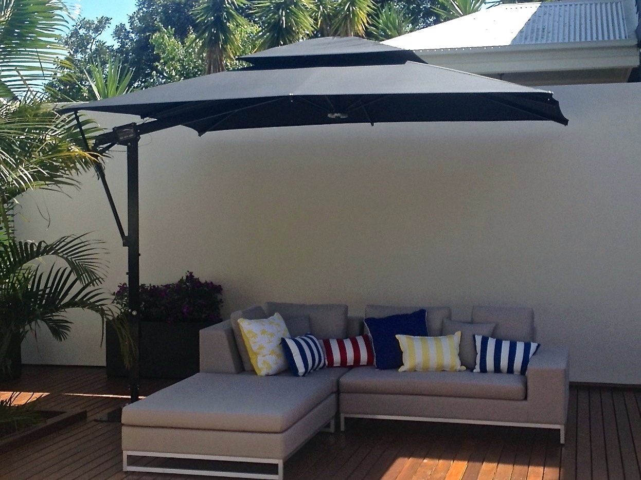 Latest Patio Ideas: Rectangular Offset Patio Umbrella (View 9 of 20)