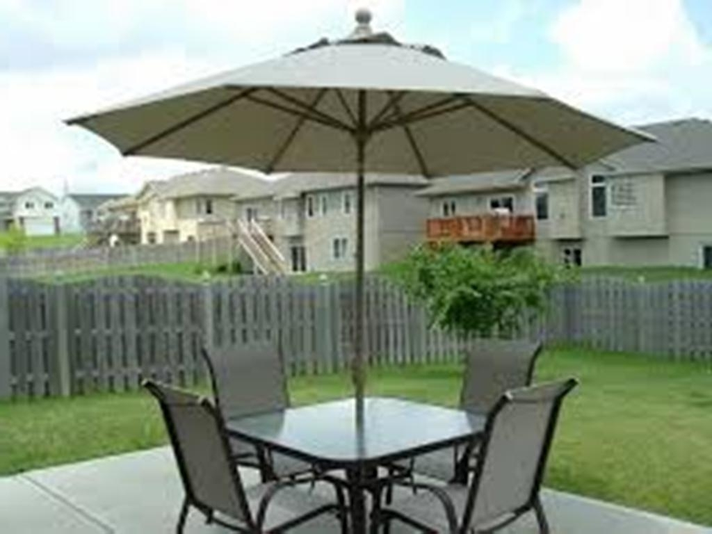 Latest Patio Tables With Umbrellas In Patio Furniture Sets With Umbrella Accessories (View 7 of 20)