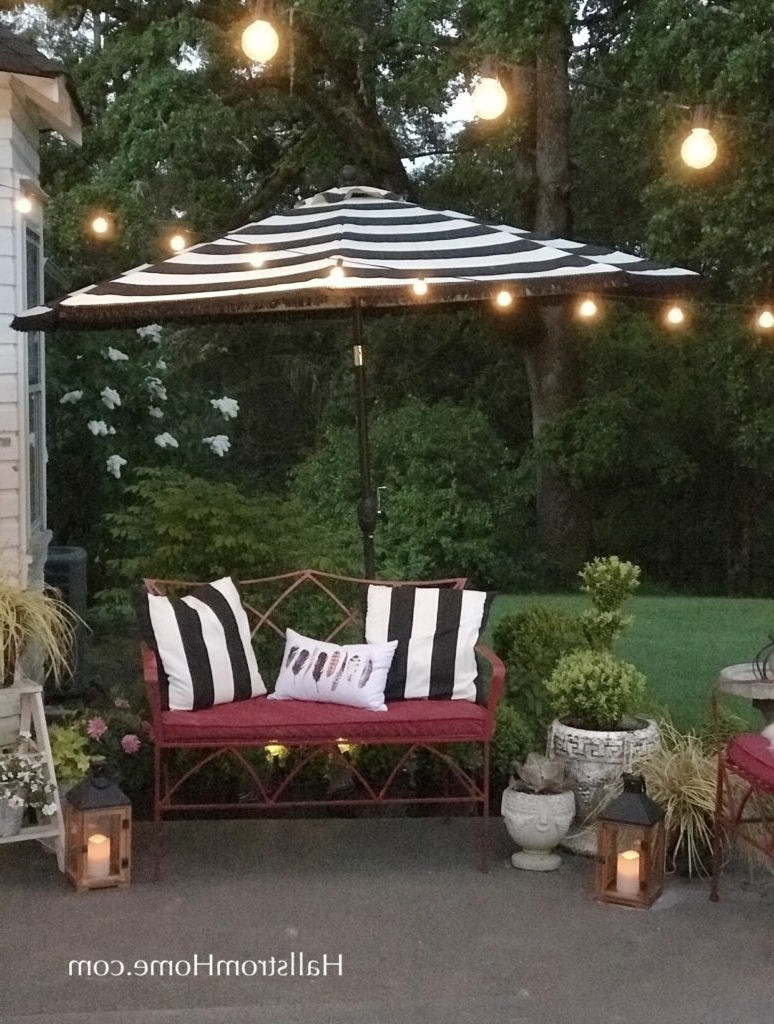 Latest Patio Umbrellas With Fringe Pertaining To How To Add Fringe To A Outdoor Umbrella ~ Hallstrom Home (View 7 of 20)