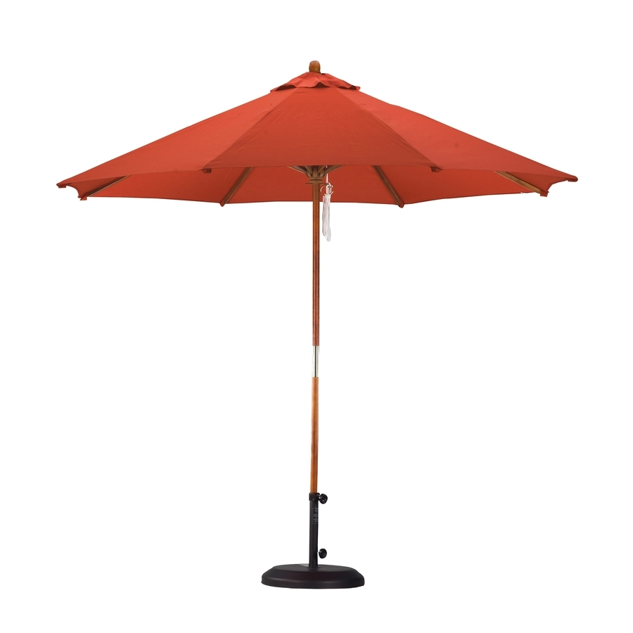 Latest Shop Lauren & Company Tuscan Orange Market 9 Ft Patio Umbrella At In 9 Ft Patio Umbrellas (View 12 of 20)
