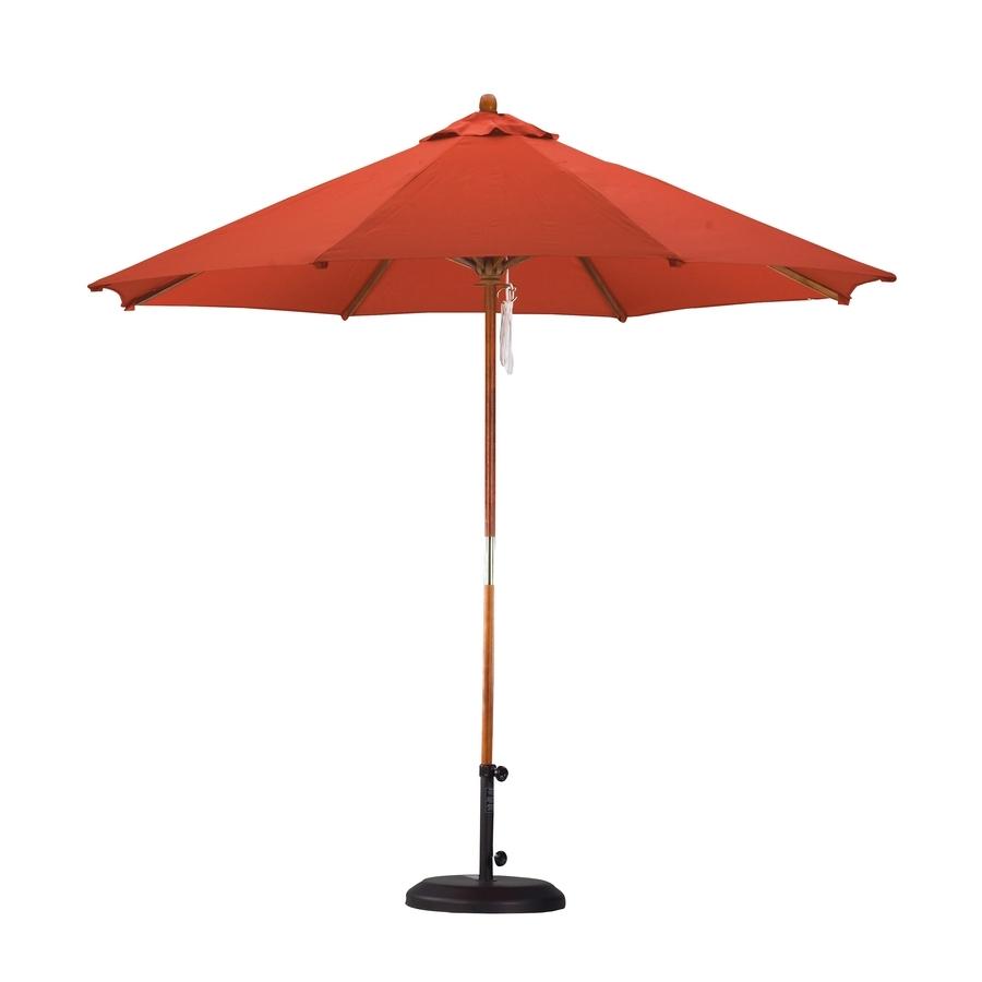 Latest Shop Lauren & Company Tuscan Orange Market 9 Ft Patio Umbrella At In 9 Ft Patio Umbrellas (View 14 of 20)