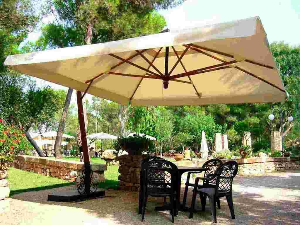 Latest Stylized Base Henna Patio Umbrellas Cantilever Cantilever Patio For Costco Cantilever Patio Umbrellas (View 14 of 20)