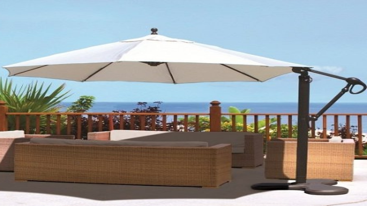 Latest Sunbrella Patio Umbrellas Intended For Rectangular Sunbrella Patio Umbrellas (View 20 of 20)