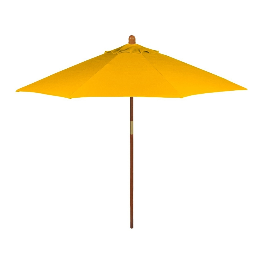 Latest Yellow Patio Umbrellas Pertaining To Shop Phat Tommy Sunshine Yellow Market 9 Ft Patio Umbrella At Lowes (View 5 of 20)