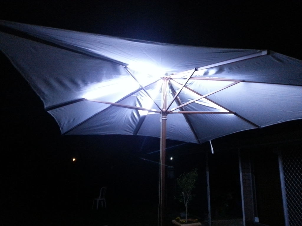 Led Outdoor Umbrella Lighting: 4 Steps (With Pictures) Throughout Most Current Patio Umbrellas With Led Lights (View 9 of 20)