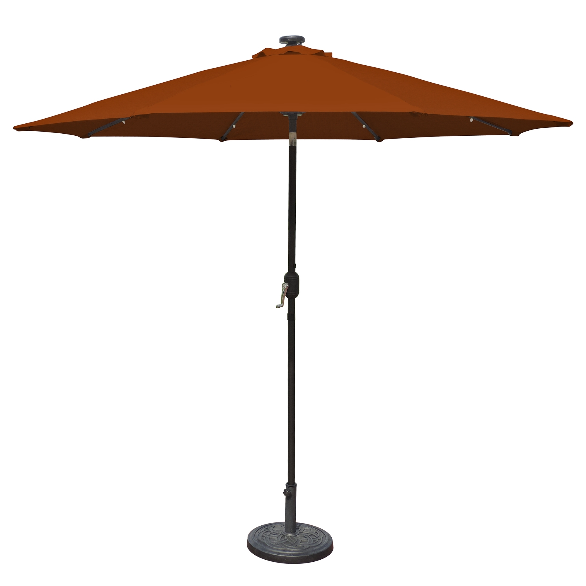Led Patio Umbrellas Pertaining To Popular Island Umbrella Mirage Fiesta 9 Ft Market Solar Led Auto Tilt Patio (View 10 of 20)