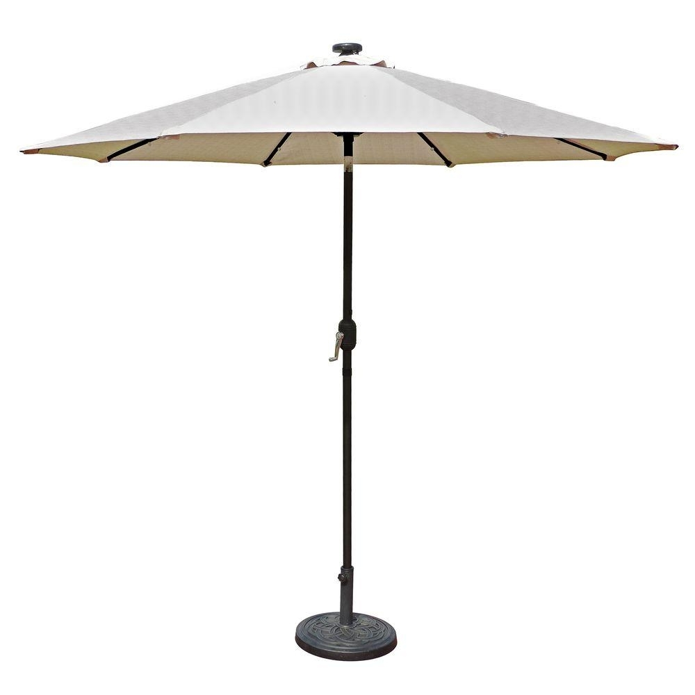 Led Patio Umbrellas Regarding Well Known Island Umbrella Mirage Fiesta 9 Ft (View 16 of 20)