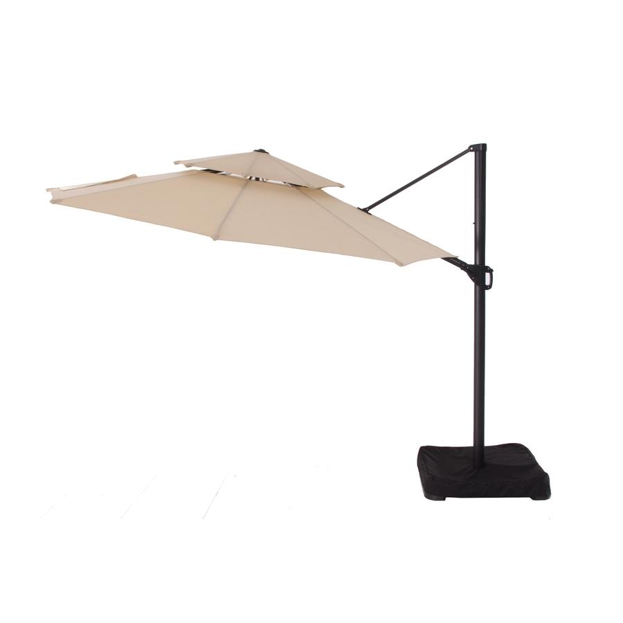 Lowes Cantilever Patio Umbrellas For Popular Shop Garden Treasures Patio Umbrella At Lowes (View 2 of 20)