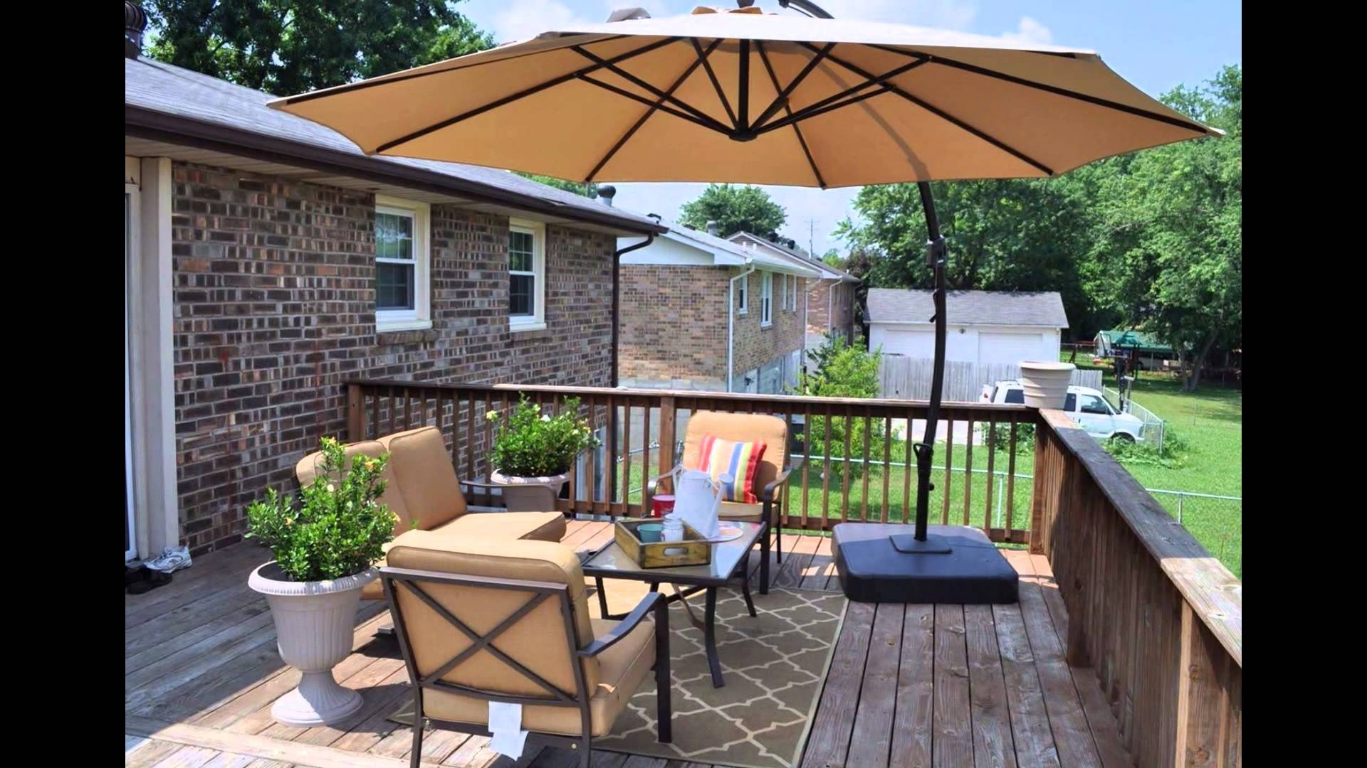 Lowes Patio Furniture – Youtube With Regard To Well Liked Lowes Patio Umbrellas (View 18 of 20)