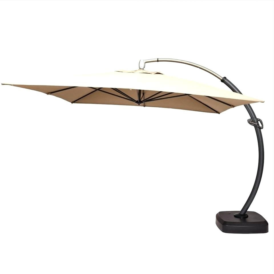 Lowes Patio Umbrellas Within Most Current Lowes Patio Umbrella Replacement Canopy Parts Canada (View 11 of 20)