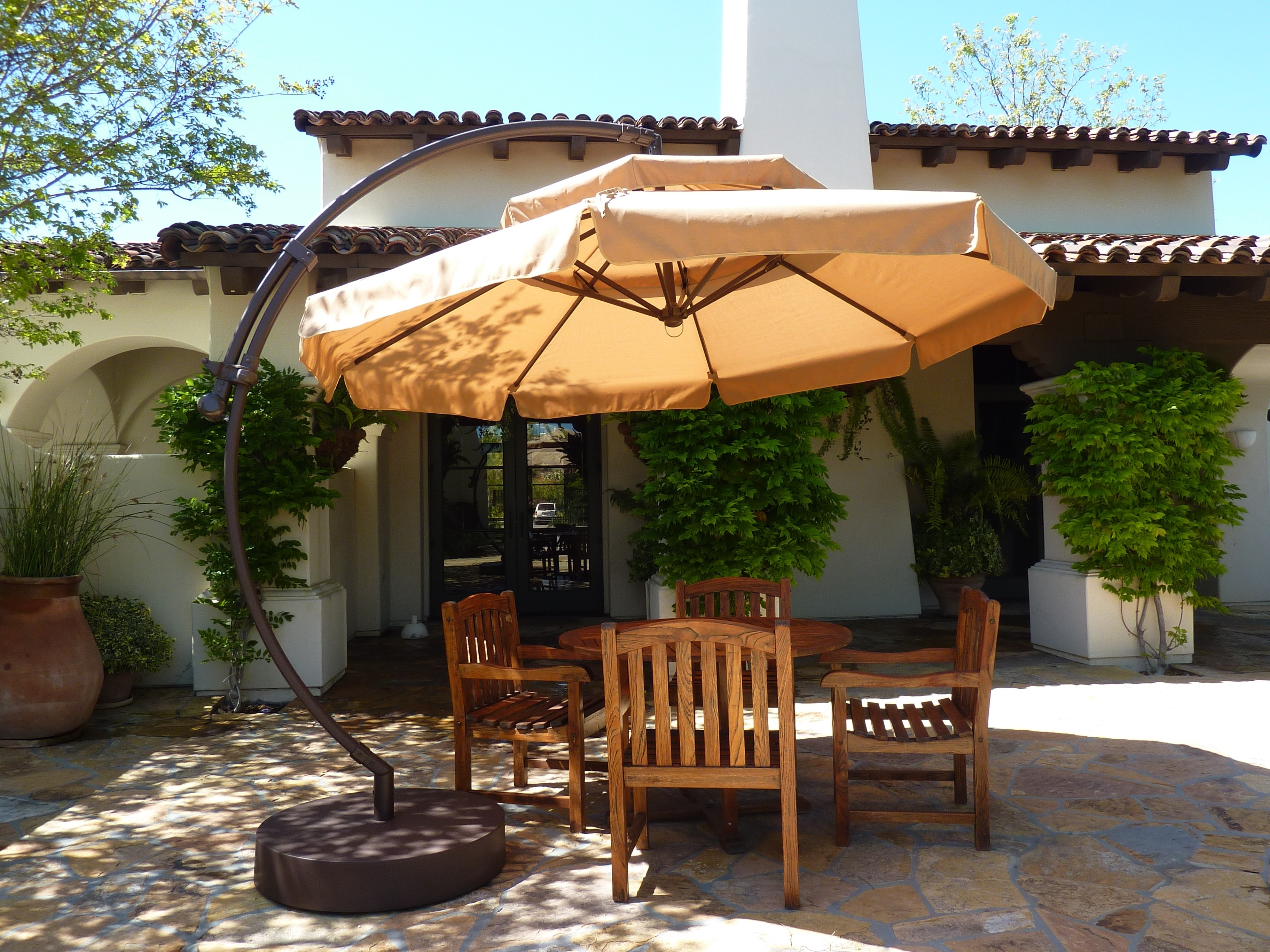 Most Current 10 Ft Patio Umbrellas Pertaining To Furniture: 10Ft Cantilever Umbrellas Patio Umbrella Target Patio (View 12 of 20)