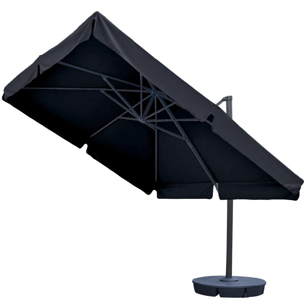 Most Current Black Patio Umbrellas Regarding Island Umbrella Santorini Ii 10 Ft (View 15 of 20)
