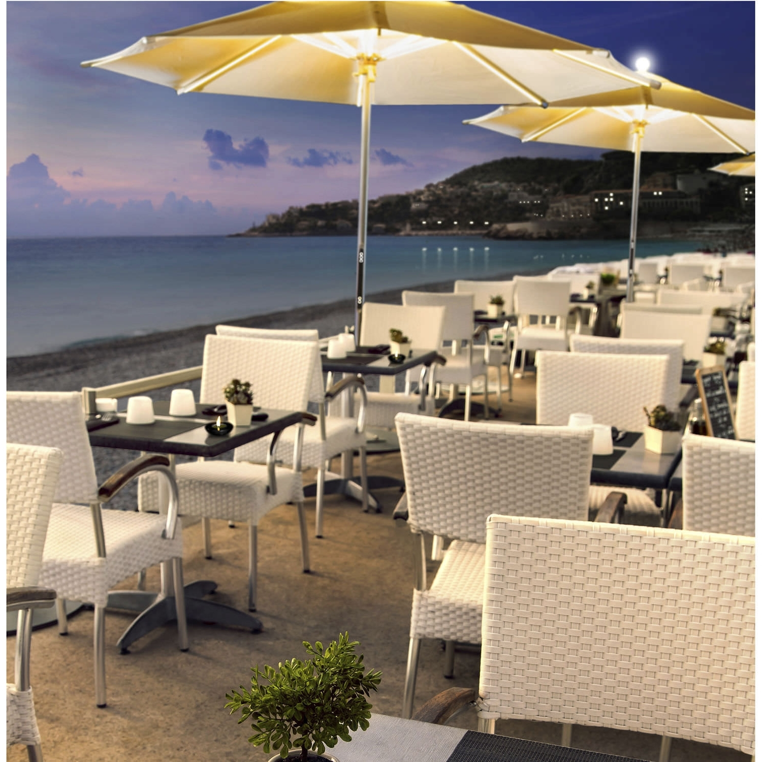 Most Current Commercial Patio Umbrellas Sunbrella Regarding Commercial Patio Umbrella / Teak / Aluminum / With Heater – Ni (View 11 of 20)